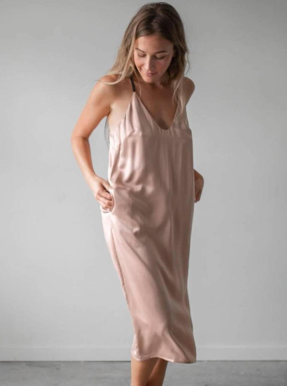 """Finally, you can wash your silk at home. More on why Lunya deserves a spot in your closet <a href=""""https://www.glamour.com/story/lunya-review-washable-silk-sets?mbid=synd_yahoo_rss"""" rel=""""nofollow noopener"""" target=""""_blank"""" data-ylk=""""slk:here"""" class=""""link rapid-noclick-resp"""">here</a>. $198, Lunya. <a href=""""https://www.lunya.co/products/washable-silk-slip-dress?"""" rel=""""nofollow noopener"""" target=""""_blank"""" data-ylk=""""slk:Get it now!"""" class=""""link rapid-noclick-resp"""">Get it now!</a>"""