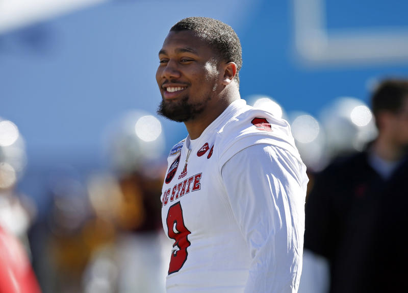 North Carolina State's Bradley Chubb is projected to be one of the top defensive players selected in April's draft. (AP)