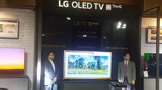 Deep ThinkQ powered OLED TV runs on the company's latest Alpha 9 processor, which delivers improved screen resolution by optimising colour using AI technology