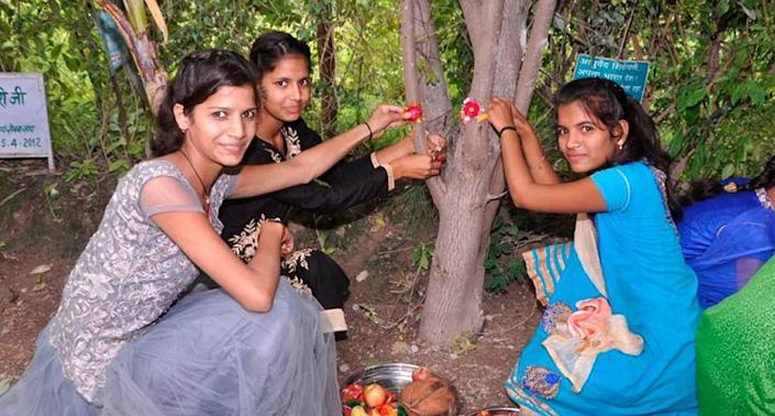 Known to celebrate and empower girls and women, the villagers of Piplantri plant 111 trees for every girl child born and the community ensures these trees survive, attaining fruition as the girls grow up