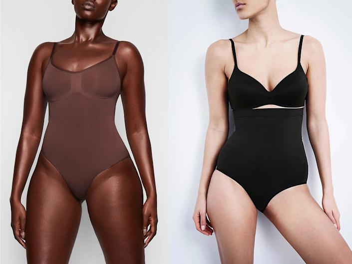 In the battle of the shapewear, we were looking for products that made us feel confident, while also allowing us to move and breathe freely: Skims/Spanx