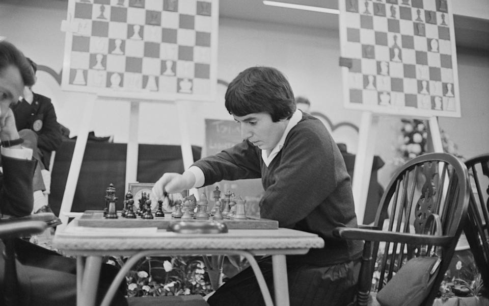 Georgian chess player and women's world chess champion, Nona Gaprindashvili of the Soviet Union, pictured playing a game of chess at the International Chess Congress in London - Getty