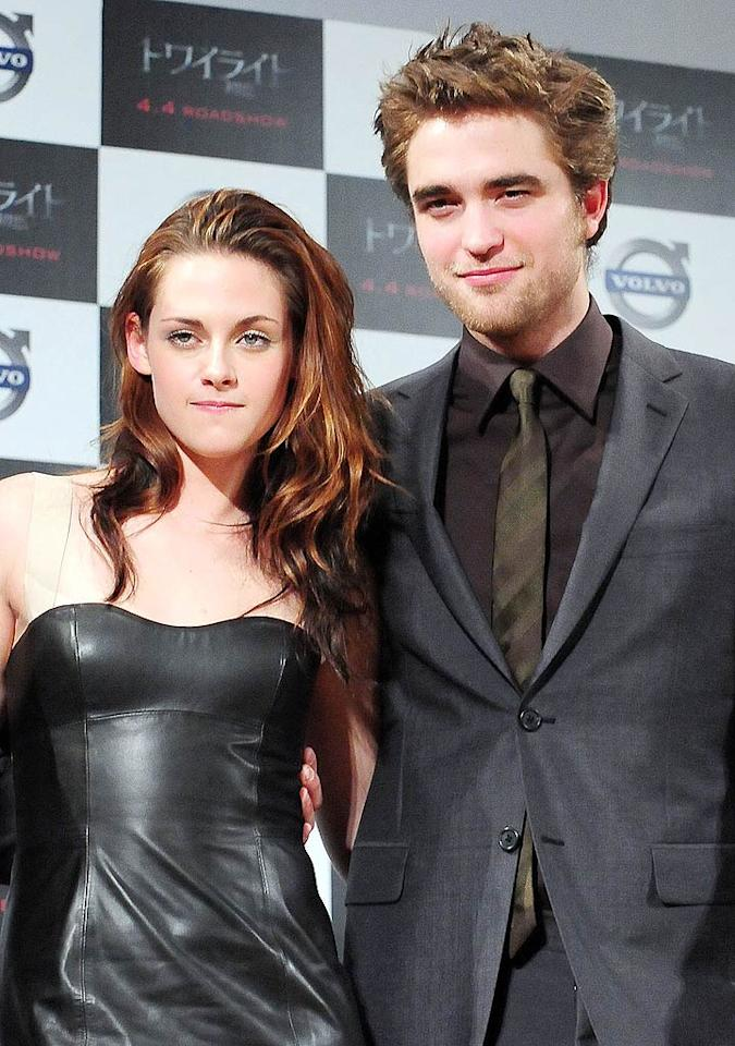 """""""Rob asks Kristen to marry him,"""" reads the headline of an <i>In Touch</i> story about Robert Pattinson and Kristen Stewart. According to the magazine, Pattinson has pleaded, """"Please marry me,"""" and even """"resorted to begging Kristen to be his wife."""" And even though the magazine says """"Rob already has the blessing of Kristen's family,"""" the actress is extremely hesitant. For why Stewart's unsure and how Pattinson plans to change her mind, log on to <a href="""" http://www.gossipcop.com/robert-pattinson-begging-kristen-stewart-marriage-proposal/"""" target=""""new"""">Gossip Cop</a>. Jun Sato/<a href=""""http://www.wireimage.com"""" target=""""new"""">WireImage.com</a> - February 27, 2009"""