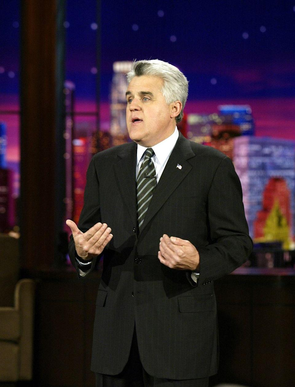 "<p>The late-night host started his career with a job at a McDonald's in Massachusetts. He <a href=""http://goldenopportunitybook.com/jay-leno/"" rel=""nofollow noopener"" target=""_blank"" data-ylk=""slk:told Cody Teets"" class=""link rapid-noclick-resp"">told Cody Teets</a>, author of <a href=""https://www.amazon.com/Golden-Opportunity-Remarkable-Careers-McDonalds/dp/1604332794?tag=syn-yahoo-20&ascsubtag=%5Bartid%7C2140.g.27361202%5Bsrc%7Cyahoo-us"" rel=""nofollow noopener"" target=""_blank"" data-ylk=""slk:Golden Opportunity: Remarkable Careers That Began at McDonald's"" class=""link rapid-noclick-resp""><em>Golden Opportunity: Remarkable Careers That Began at McDonald's</em></a>, that working at the restaurant taught him important life lessons about hard work and having high standards.</p>"
