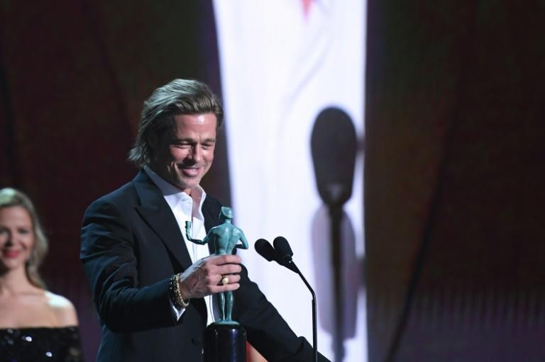 "US actor Brad Pitt has joked that his role -- ""a guy who gets high, takes his shirt off and doesn't get along with his wife -- was a stretch for him"