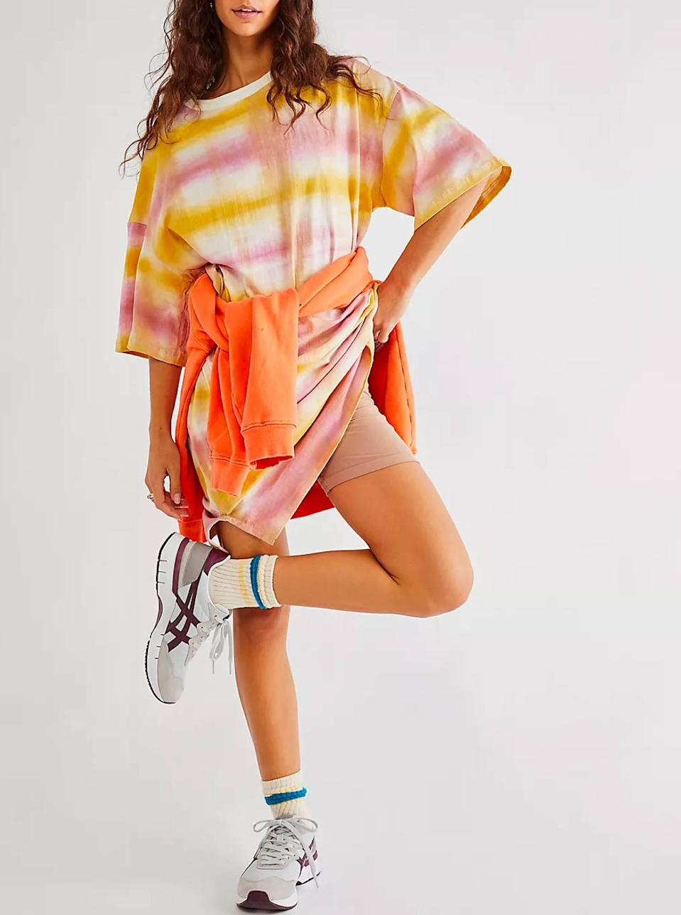 """Lazing around? Perusing the farmers market? Going to an outdoor concert? This tie-dye T-shirt dress is the move. $273, Free People. <a href=""""https://www.freepeople.com/shop/lavanda-dress/?"""" rel=""""nofollow noopener"""" target=""""_blank"""" data-ylk=""""slk:Get it now!"""" class=""""link rapid-noclick-resp"""">Get it now!</a>"""