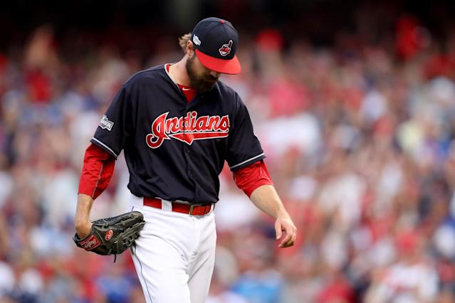 A Canadian activist tried to get an injunction against the Indians team name and logo. (Getty Images)