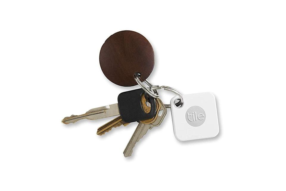 """<p>If your dad always loses his keys and thinks, """"If only there were a way to find my stuff,"""" then he's in luck. This <a href=""""https://www.popsugar.com/buy/Tile-Mate-Anything-Finder-398394?p_name=Tile%20Mate%20Anything%20Finder&retailer=amazon.com&pid=398394&price=16&evar1=news%3Aus&evar9=36026397&evar98=https%3A%2F%2Fwww.popsugar.com%2Fnews%2Fphoto-gallery%2F36026397%2Fimage%2F44892419%2FTile-Mate-Key-Finder-Phone-Finder-Anything-Finder&list1=shopping%2Cgifts%2Cgift%20guide%2Cdigital%20life%2Cfathers%20day%2Ctech%20gifts%2Cgifts%20for%20men&prop13=api&pdata=1"""" class=""""link rapid-noclick-resp"""" rel=""""nofollow noopener"""" target=""""_blank"""" data-ylk=""""slk:Tile Mate Anything Finder"""">Tile Mate Anything Finder </a> ($16) easily attaches to his keys (or other devices) and can be tracked from a smartphone.</p>"""