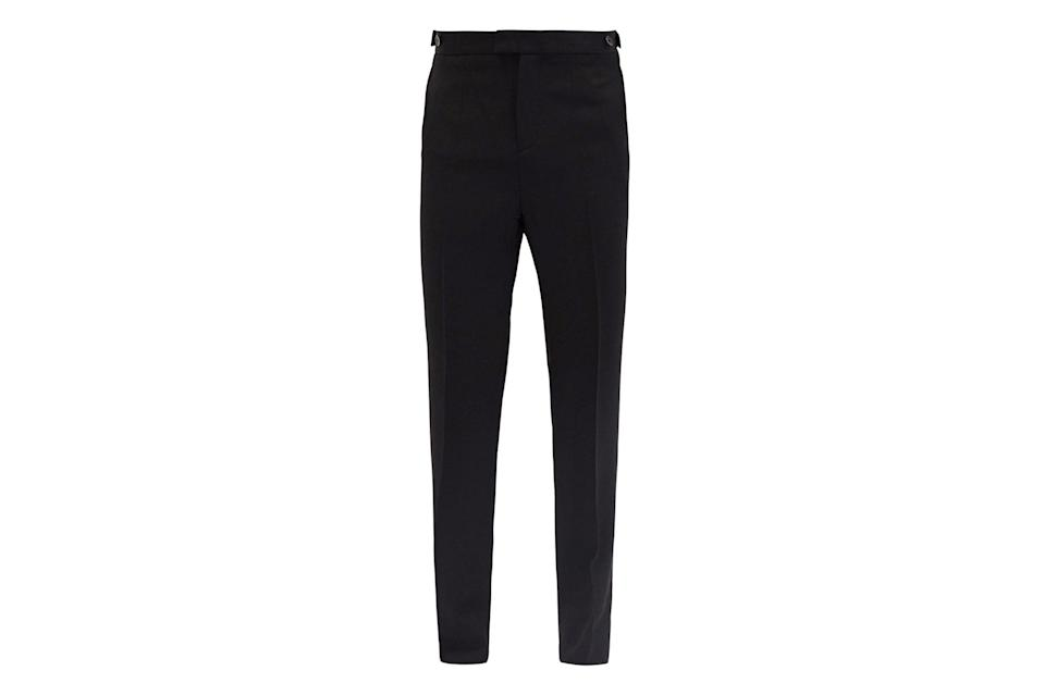 """$650, Matchesfashion. <a href=""""https://www.matchesfashion.com/us/products/Wales-Bonner-Judah-wool-trousers--1365074"""" rel=""""nofollow noopener"""" target=""""_blank"""" data-ylk=""""slk:Get it now!"""" class=""""link rapid-noclick-resp"""">Get it now!</a>"""