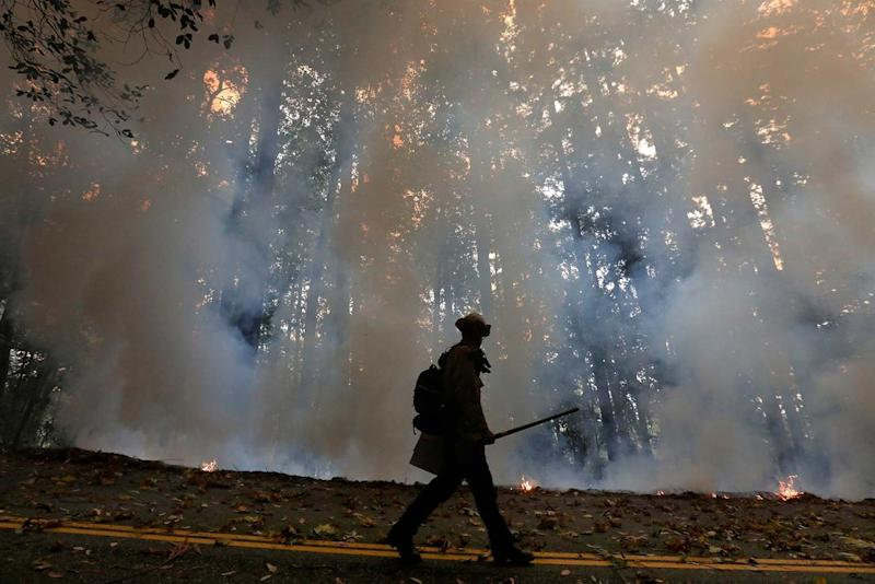 Firefighters are still tackling the blazes this week (AP)