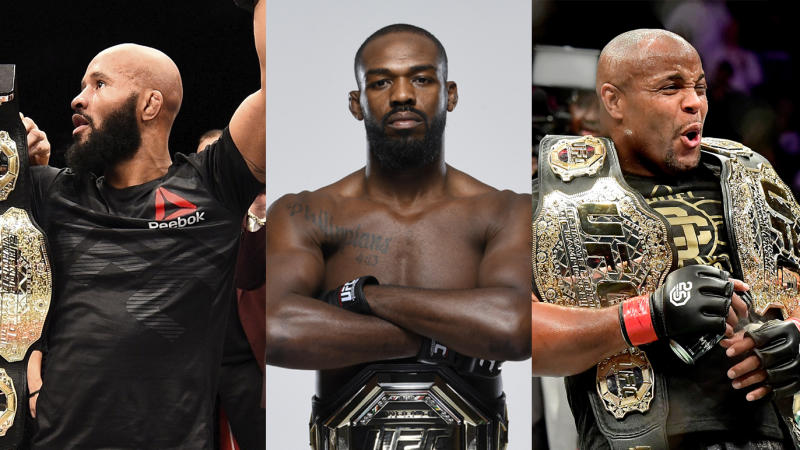 Demetrious Johnson, Jon Jones and Daniel Cormier are all candidates for Yahoo Sports MMA Male Fighter of the Decade.