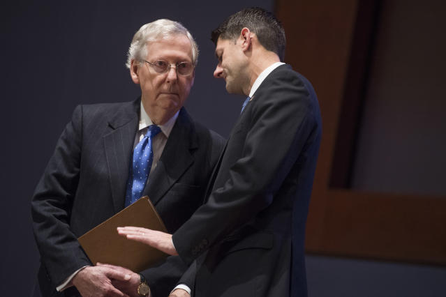 Senate Majority Leader Mitch McConnell, R-Ky., and Speaker of the House Paul Ryan, R-Wis. (Photo: Tom Williams/CQ Roll Call)