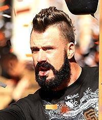 San Francisco Giants pitcher Brian Wilson celebrates the Giants' World Series victory