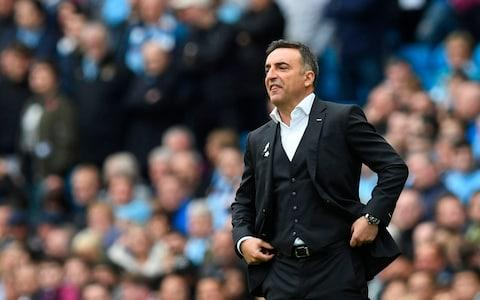 Carlos Carvalhal watches from the touchline - Credit: AFP