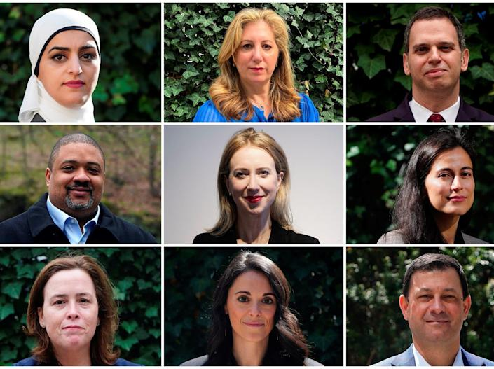 A composite image of Manhattan district-attorney candidates.