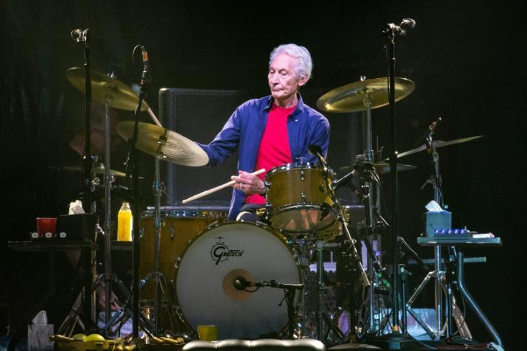 Charlie Watts performing at a Rolling Stones concert in Houston, Texas in July 2019