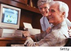 Couple going over retirement plan
