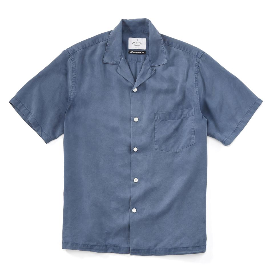 """<p><strong>Portuguese Flannel</strong></p><p>huckberry.com</p><p><strong>$82.98</strong></p><p><a href=""""https://go.redirectingat.com?id=74968X1596630&url=https%3A%2F%2Fhuckberry.com%2Fstore%2Fportuguese-flannel%2Fcategory%2Fp%2F57413-dogtown&sref=https%3A%2F%2Fwww.esquire.com%2Fstyle%2Fmens-fashion%2Fg33483963%2Fhuckberry-summer-sale%2F"""" rel=""""nofollow noopener"""" target=""""_blank"""" data-ylk=""""slk:Buy"""" class=""""link rapid-noclick-resp"""">Buy</a></p><p>Show me a shirt that doesn't look substantially better with a camp collar. No, really. I'll wait. </p>"""