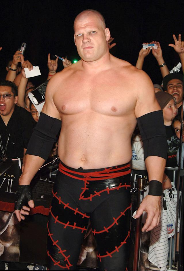 Kane, WWE Raw Superstar during 'See No Evil' Premiere - Arrivals in Los Angeles, California, United States. (Photo by J.Sciulli/WireImage for LIONSGATE)