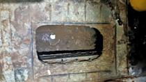 This handout image provided by Israel Prison Service shows a tunnel dug beneath a sink at the Gilboa prison (AFP/-)