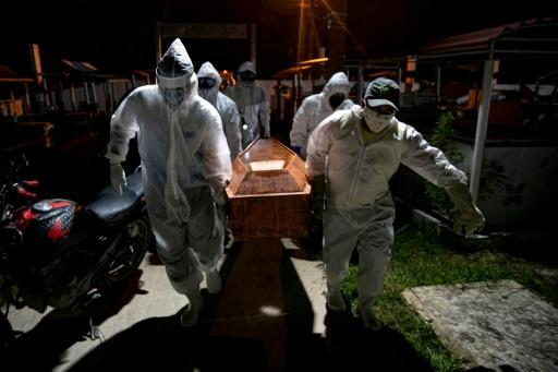Brazil now has the third highest death toll in the world after the US and Britain