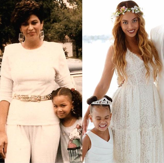 <p>Beyonce's Blue Ivy is the spitting image of her younger self when shown side-by-side in this photo collage. </p>