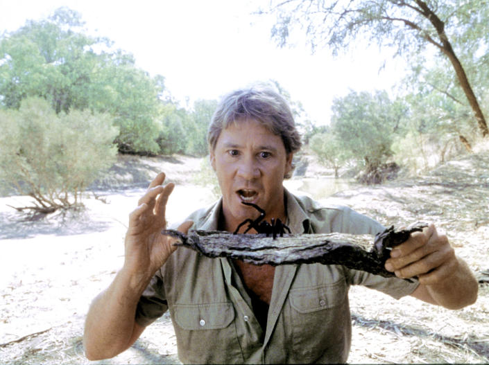 TV star 'Crocodile Hunter' Steve Irwin died in 2006, at the age of 44, from a stingray heart injury.  (AP)