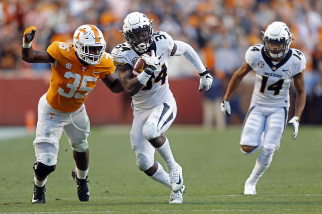 Missouri running back Larry Rountree III has averaged nearly 5.5 yards a carry for his career. (AP Photo/Wade Payne)