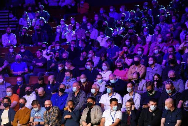 A capacity crowd attended the final two days of the World Snooker Championship