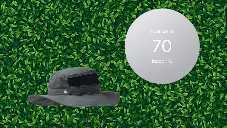 Amazon's best deals today include a transitional hat and a smartphone-friendly thermostat.