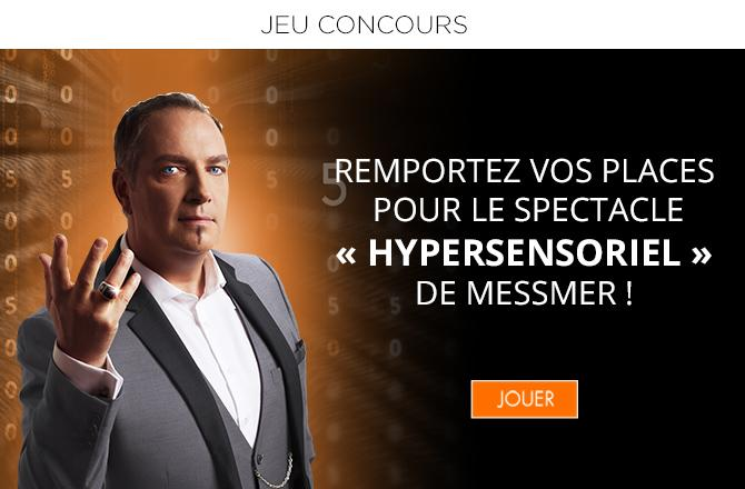Hypersensoriel : Tentez de remporter des places pour le spectacle de Messmer au Grand Rex !