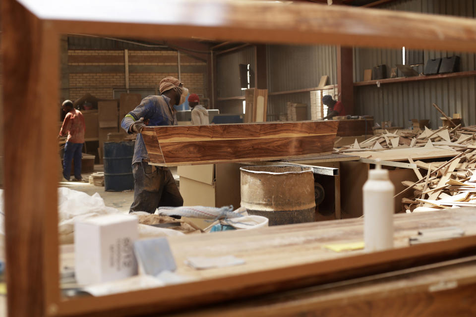 South African coffin-maker saw COVID-19 at work and at home