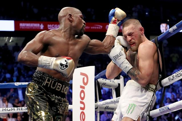 The Floyd Mayweather Jr. vs. Conor McGregor boxing match was not the finest hour for anyone involved. (Getty)