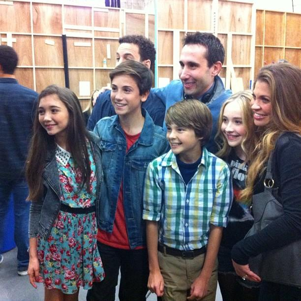 "Teo Halm <a href=""http://instagram.com/p/XLkTaMPmHc/"">shared this photo</a> of his new ""Girl Meets World"" family."