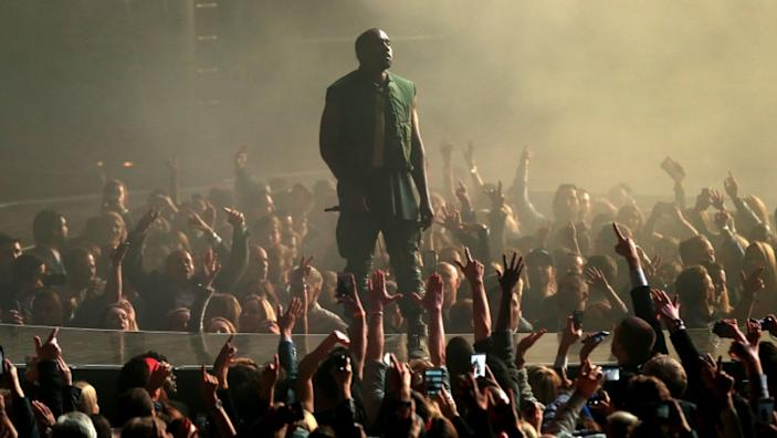 """Kanye West is mounting a quixotic bid for president. <span class=""""copyright"""">(Christopher Polk / Getty Images)</span>"""