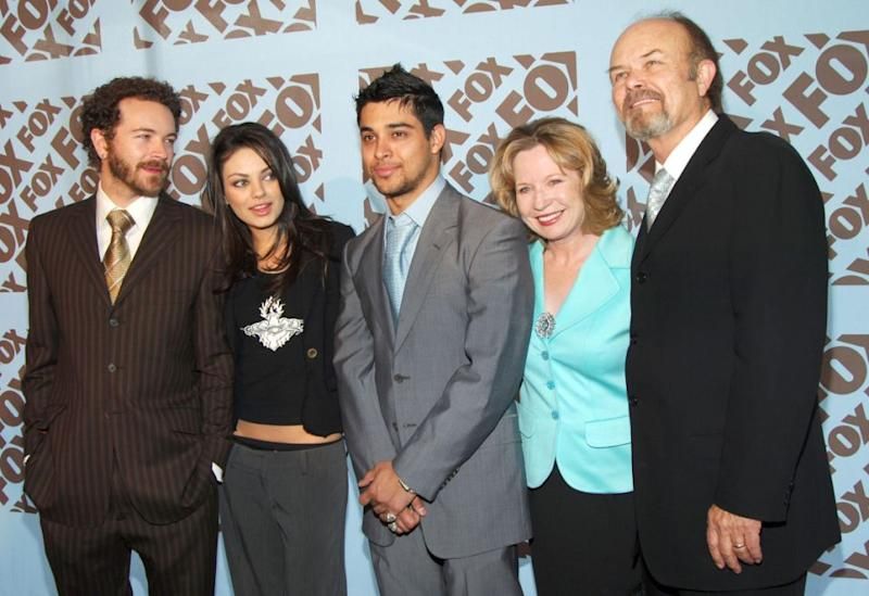 He is best known for his role in That '70s Show, seen here with the cast in 2005. Source: Getty