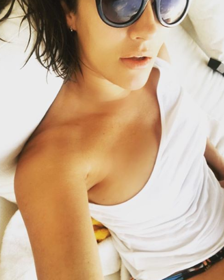 The TV star has been living it up on holiday in Dubai. Photo: Instagram/carolineflack
