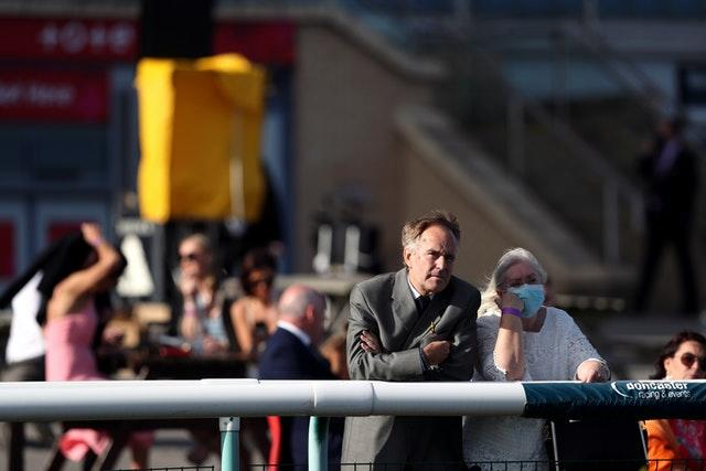 Spectators attended the first day of the St Leger Festival at Doncaster