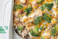 """<p>Casseroles are among the <a href=""""https://www.thedailymeal.com/holidays/thanksgiving-dishes-you-can-make-ahead-and-freeze?referrer=yahoo&category=beauty_food&include_utm=1&utm_medium=referral&utm_source=yahoo&utm_campaign=feed"""" rel=""""nofollow noopener"""" target=""""_blank"""" data-ylk=""""slk:best holiday dishes to make ahead and freeze"""" class=""""link rapid-noclick-resp"""">best holiday dishes to make ahead and freeze</a>. They make for equally easy and filling cooking after the big day too. </p> <p><a href=""""https://www.thedailymeal.com/best-recipes/turkey-and-stuffing-casserole?referrer=yahoo&category=beauty_food&include_utm=1&utm_medium=referral&utm_source=yahoo&utm_campaign=feed"""" rel=""""nofollow noopener"""" target=""""_blank"""" data-ylk=""""slk:For the Turkey and Stuffing Casserole recipe, click here."""" class=""""link rapid-noclick-resp"""">For the Turkey and Stuffing Casserole recipe, click here.</a></p>"""