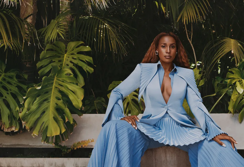 ROYAL AF A regal Issa Rae, photographed March 28 in Beverly Hills. Clothing by Robert Wun; earrings by Ana Khouri