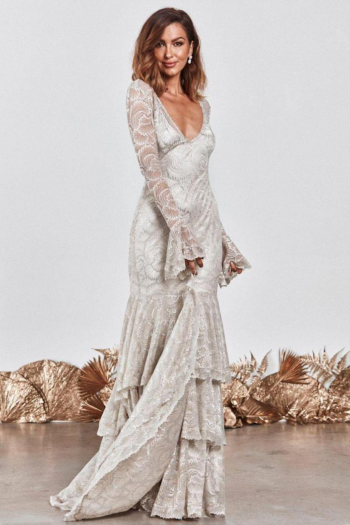 "<p>As the clever clogs behind the most-pinned wedding dress on Pinterest, it's safe to say that Grace Loves Lace knows a thing or two about what brides-to-be want. Their new La Bamba range will legit take your breath away...</p><p>Farrow dress, £1,740 <a class=""link rapid-noclick-resp"" href=""https://graceloveslace.com.au/shop/farrow/"" rel=""nofollow noopener"" target=""_blank"" data-ylk=""slk:BUY NOW"">BUY NOW</a></p>"