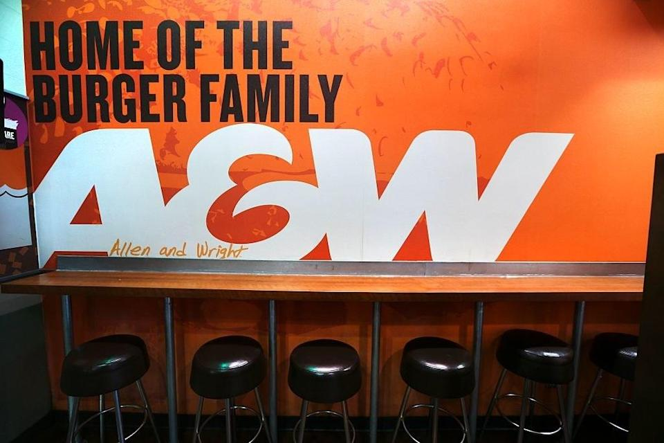 lunch counter at A&W restaurant