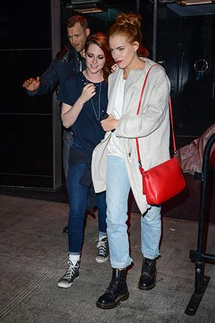 """<div class=""""caption-credit"""">Photo by: Getty Images</div><div class=""""caption-title""""></div>Riley Keough and Kristen Stewart Kristen and Riley, who tend to favor edgy, androgynous looks, proved good friendships can overcome all kinds of gossip and boy troubles (ahem, Robert Pattinson). They got through any leftover awkwardness by getting ready for the Met Gala and heading out to an after-party together, dressed in their signature laid-back style and almost matching fiery locks."""