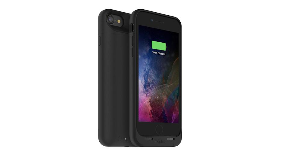 """Make the most out of your smartphone with this protective battery case with inbuilt wireless charging. It features a 525mAh battery which gives more than 27 total hours of talk time, as well as internal rubberised support pads built to withstand drops and hard falls. <a href=""""https://www.amazon.co.uk/mophie-juice-pack-Air-Protective-Black/dp/B06XJ384BP?tag=yahooukedit-21 """" rel=""""nofollow noopener"""" target=""""_blank"""" data-ylk=""""slk:Shop now"""" class=""""link rapid-noclick-resp""""><strong>Shop now</strong></a><strong>.</strong>"""