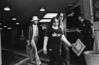 <p>Bob Dylan arrives for sound check at the The Last Waltz concert on November 25, 1976 in San Francisco.</p>