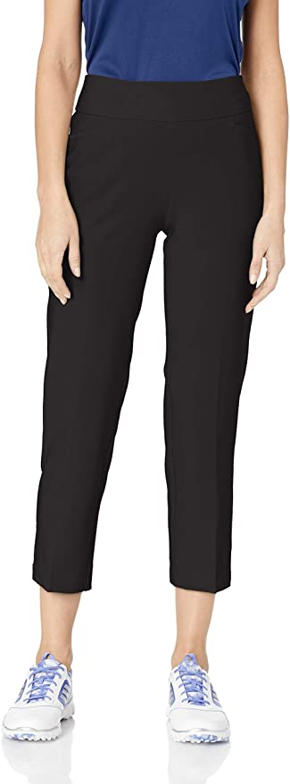 "<br><br><strong>Adidas</strong> Women's Pull-on Ankle Golf Pant, $, available at <a href=""https://amzn.to/2SNaDIr"" rel=""nofollow noopener"" target=""_blank"" data-ylk=""slk:Amazon"" class=""link rapid-noclick-resp"">Amazon</a>"