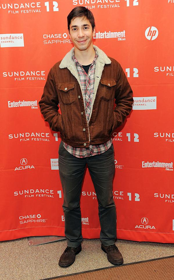 """Justin Long at the 2012 Sundance Film Festival premiere of """"For a Goof Time, Call ..."""" on January 22, 2012."""