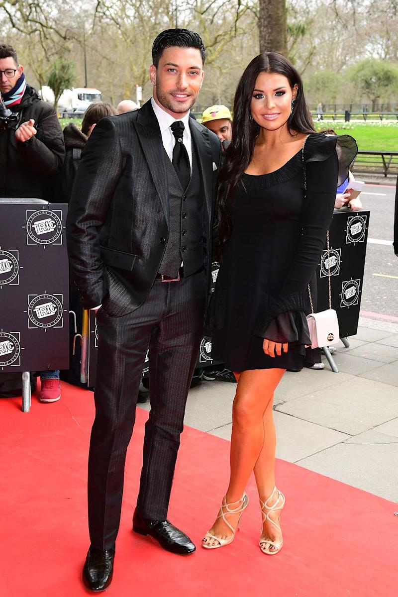 Official: Giovanni Pernice and Jess Wright (PA)