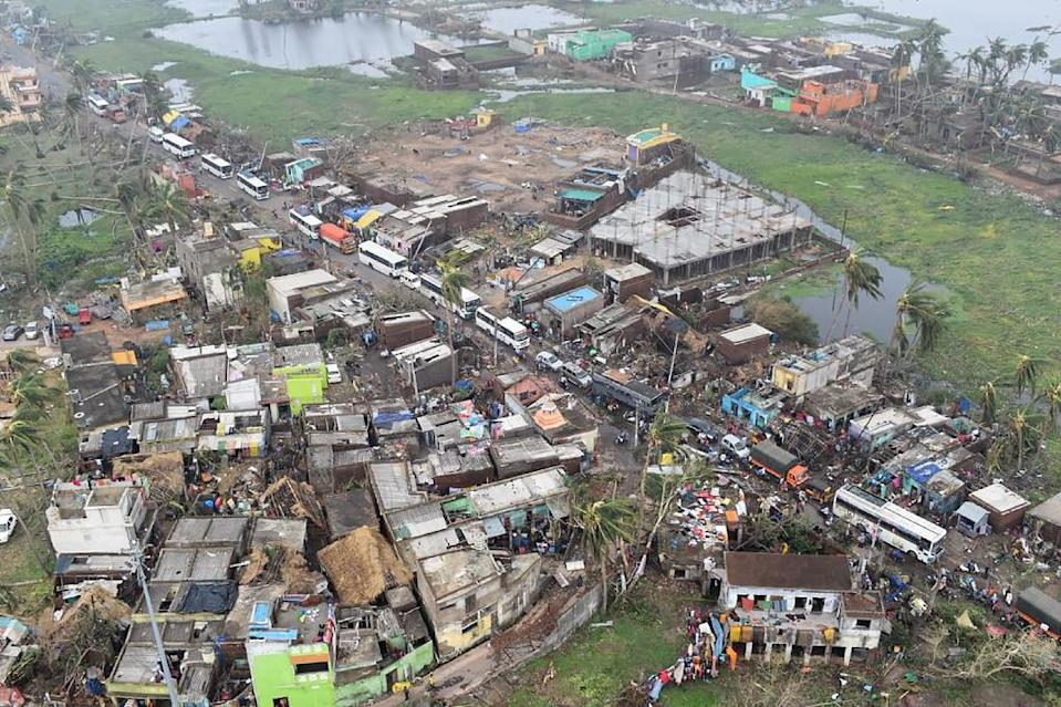 Aerial photographs showed the extent of the storm damage in Puri in India's eastern Odisha state, after Cyclone Fani hit the region (AFP Photo/Handout)