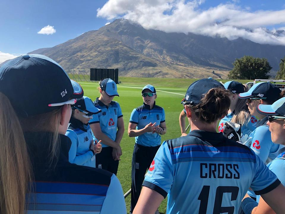 England Women on tour in New Zealand.